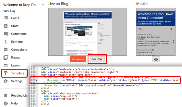 How to add a mobile responsive drop down menu in blogger blog layout pronofoot35fo Images