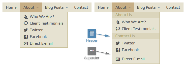Headers and Separators