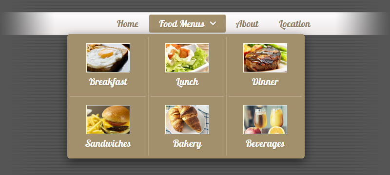 Menu with images