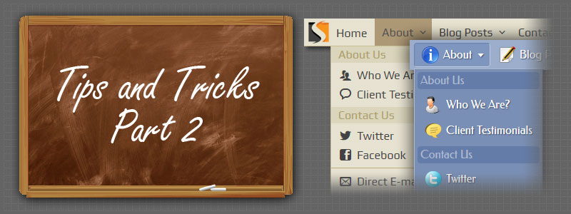 Dropdown Menus: Tips and Tricks – Part 2