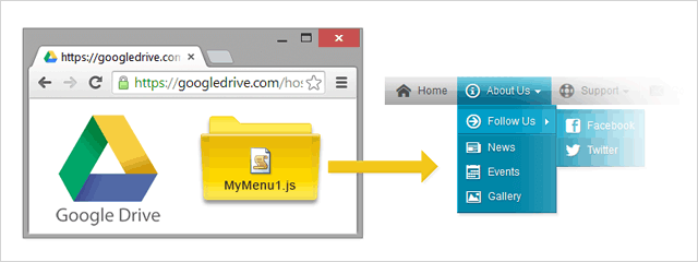 How to Host your Dropdown Menu on Google Drive