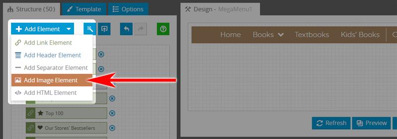 Mega Menu: Add Image Element
