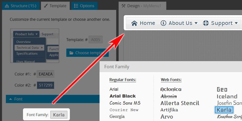 Website Navigation: Choose Readable Font