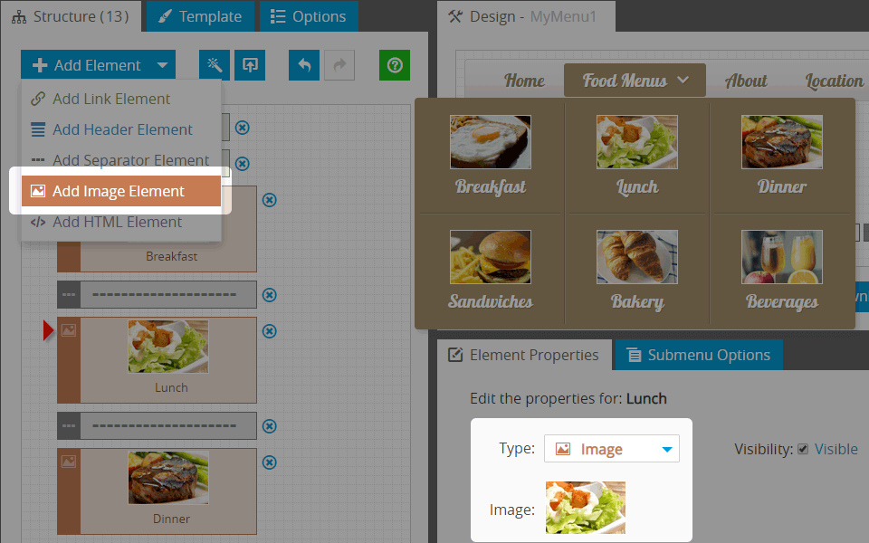 How to Make a Menu with Images